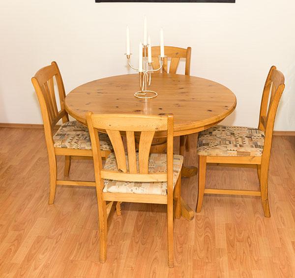 esstisch k chentisch mit ausziehfunktion stuhlkombination ebay. Black Bedroom Furniture Sets. Home Design Ideas